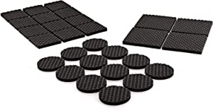 Ram-Pro Pads Anti Scratch Foam Self Stick Non Slip Adhesive Surface Grip Pads Rubber Feet Floor Protectors for Keep in Place Heavy Duty Furniture Stoppers Furniture Feets, Black (Pack of 2)