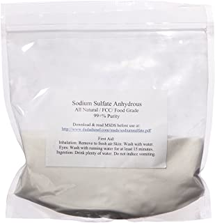 product image for 40 lb Natural Sodium Sulfate Food Grade FCC 99+% Granular Anhydrous Crystals Salt Made in USA
