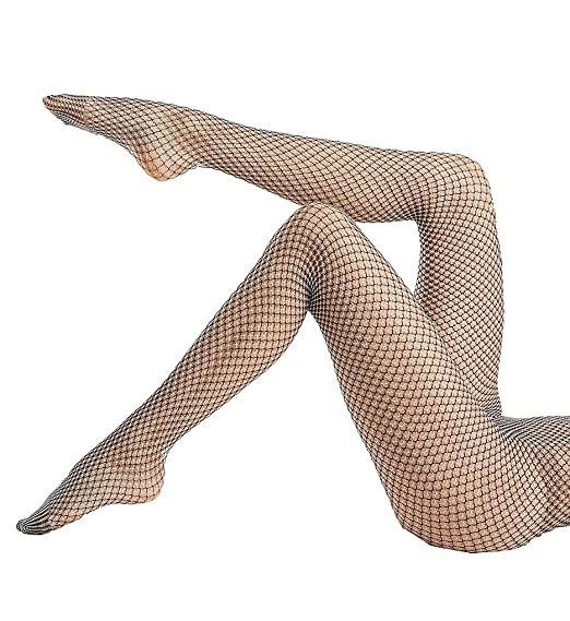 646b6f5ab Hue Two Tone Net Tights (18289) at Amazon Women s Clothing store