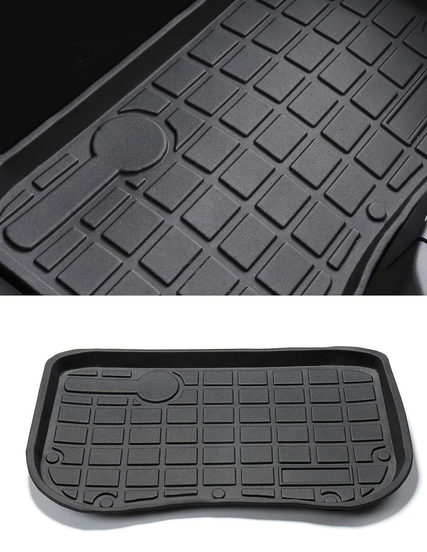 LUCKEASY for Tesla Model 3 2017 2018 2019 TPE Material Custom Fit Argo Before Cargo Tray Trunk Floor Mat Black Rubber Waterproof