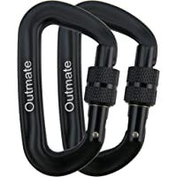 Outmate Carabiner Clip,12kN Aluminium Alloy Carabiners,Heavy Duty Clips 2645lbs/1200kg,Perfect Gear for Hammocks Camping…