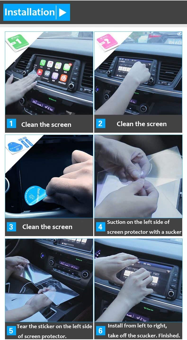 TTCR-II Tempered Glass Screen Protector Anti-Explosion 6.88*4.13 Compatible with Edge F150 Fusion 2015-2020 Focus 2015-2018 EXplorer Taurus 2015-2019 Ford Navigation Display Screen Protector 8-Inch 2 Packs