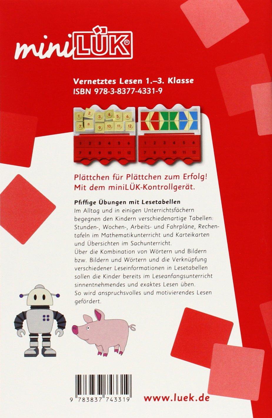miniLÜK: Vernetztes Lesen: Pfiffige Übungen mit Lesetabellen: Amazon ...