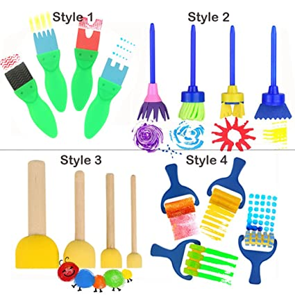 Amazoncom 16 PCS Paint Brushes for Kids Artist Paint Texture