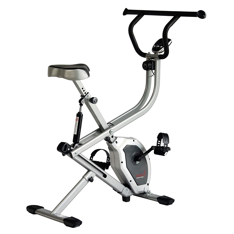 Sunny Salud y Fitness Bicicleta estática 2 en 1 Vertical Bicicleta ...