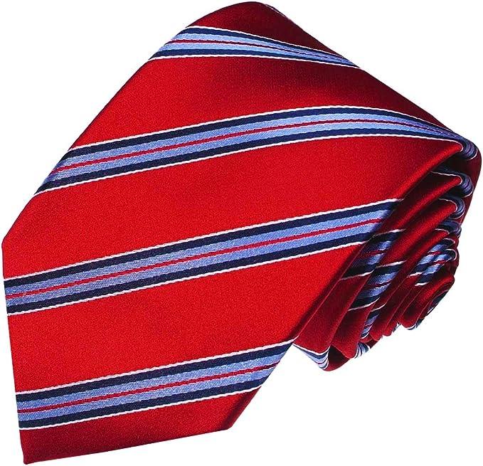 LORENZO CANA - Corbata - Rayas - para hombre rojo Blau Rot: Amazon ...