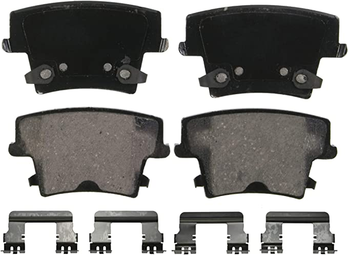 Amazon.com: Wagner QuickStop ZD1057 Ceramic Disc Pad Set Includes Pad Installation Hardware, Rear: Automotive