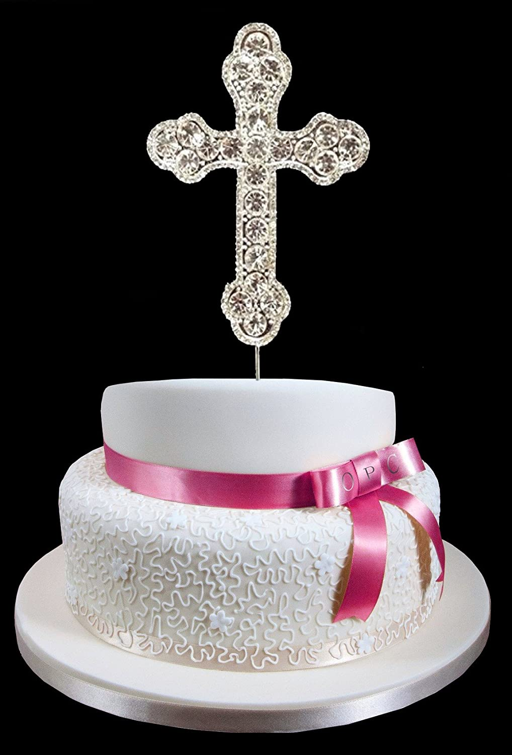 Amazon silver rhinestone cross cake topper communion amazon silver rhinestone cross cake topper communion christening wedding confirmation religious occasion by onlinepartycenter kitchen dining junglespirit Choice Image