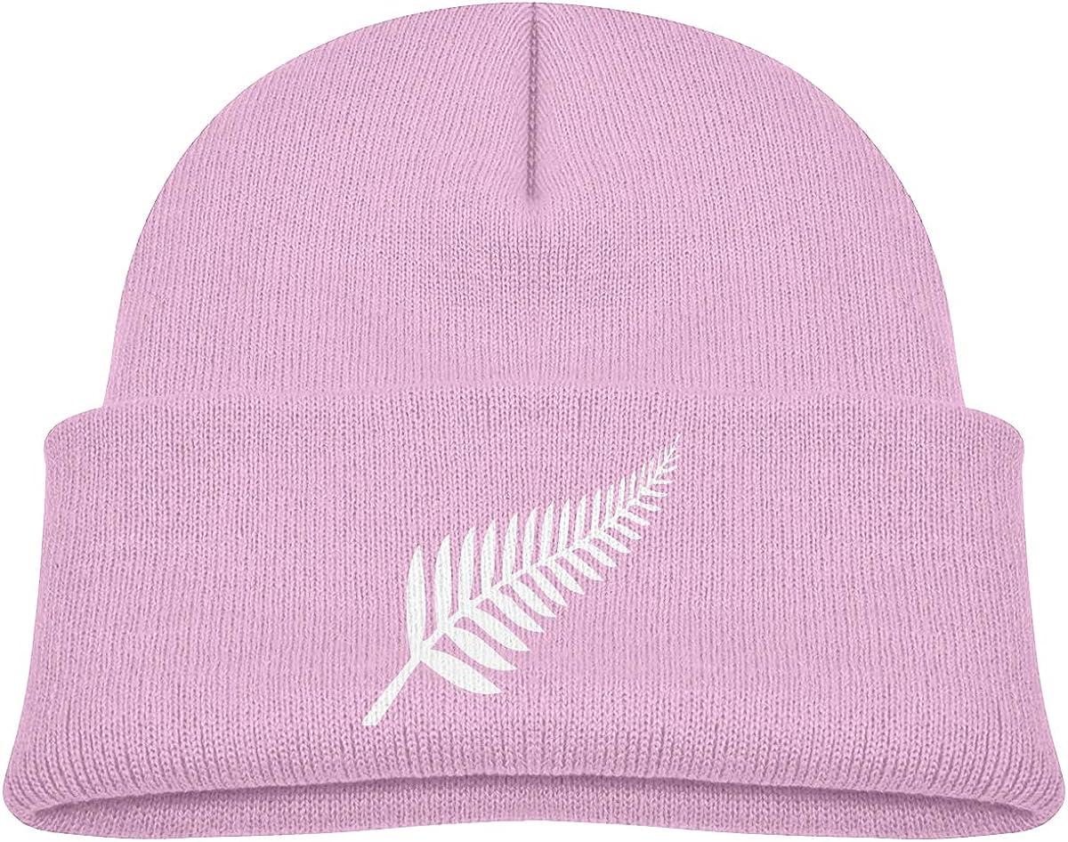 ZWZ New Zealand Maori Fern Toddlers Hats Winter Knit Beanie Cap Skull Cap