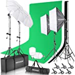 Neewer 8.5x10ft Backdrop Stand Support Kit with 6x9ft Background, 900W 5500K