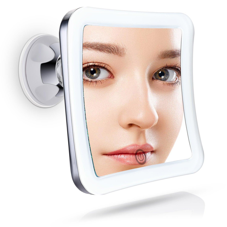 Specchio ingranditore da trucco ingrandimento 10x illuminato specchio makeup ebay - Specchio per trucco illuminato ...