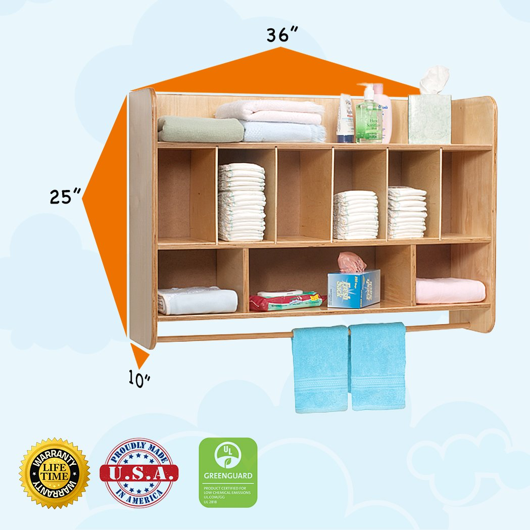 Whitney Brothers Hang On The Wall Diaper Unit-The Perfect Solution to Your Diaper Storage Problem