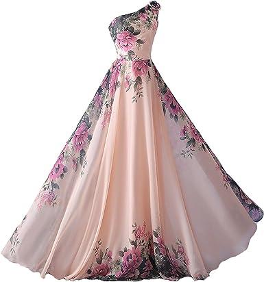 Abiti Da Cerimonia Floreali.Emmarcon Abito Da Cerimonia Donna Damigella Vestito Lungo Elegante