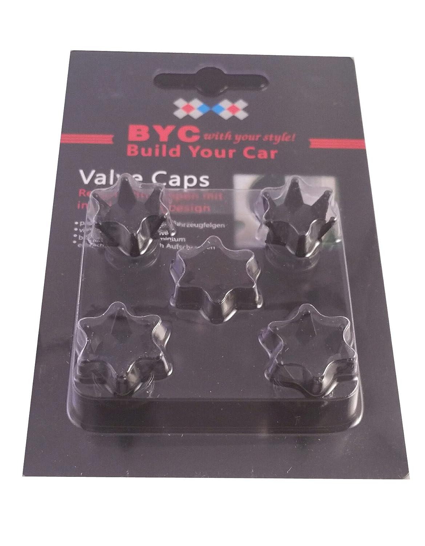 blanche argent/ée dor/ée pour pneus de voiture Lot de 4 Embouts de bouchons de valve en alliage couronnes de couleur noire rose