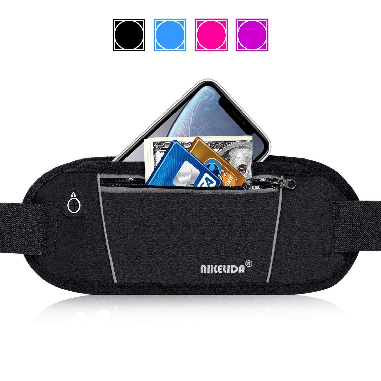 AIKELIDA Fanny Pack, Running Belt – Waist Pack Runners Belt Fitness Gear Accessories for Women and Men – Running Bag Pouch Phone Holder for iPhone Samsung