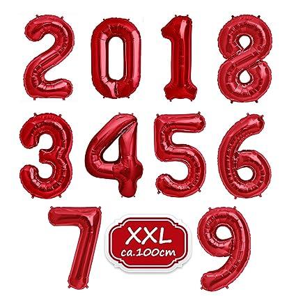 Globos de números para fiestas de cumpleaños.