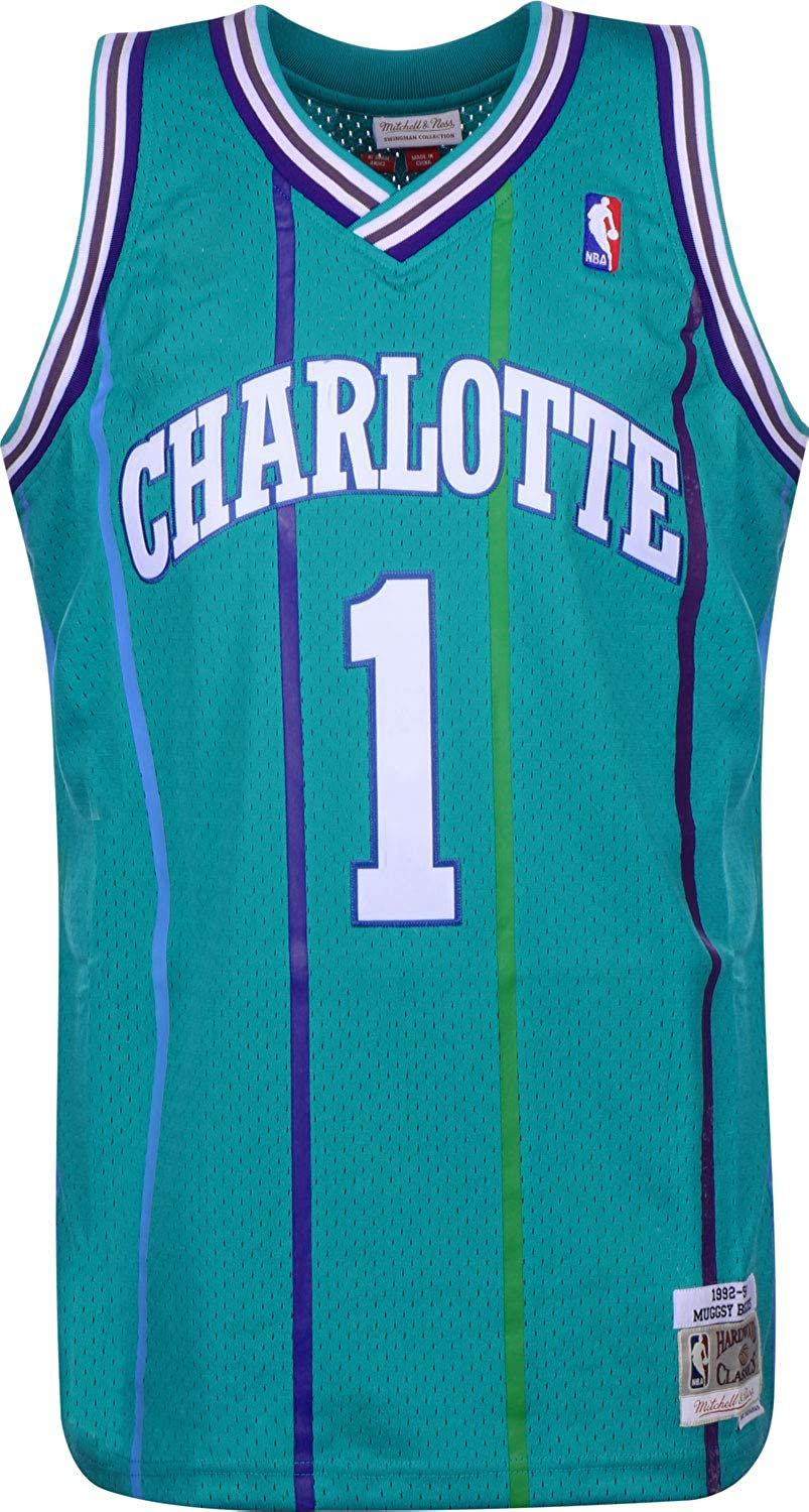 Mitchell & Ness Charlotte Hornets Muggsy Bogues Camiseta sin Mangas Teal: Amazon.es: Ropa y accesorios