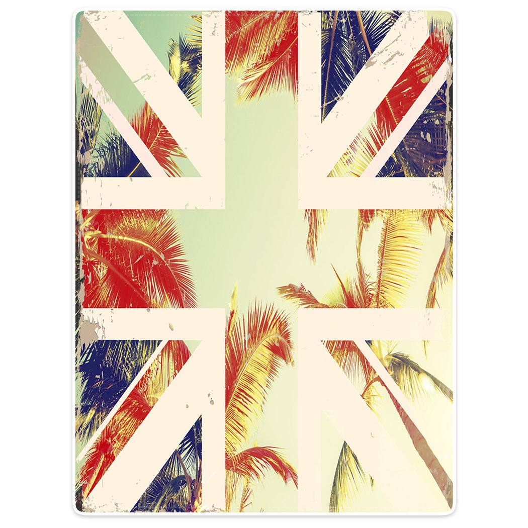 Blanket Sofa Bed Throw Lightweight Cozy Plush British Flag Sunshine Palm Tree 40''x50''