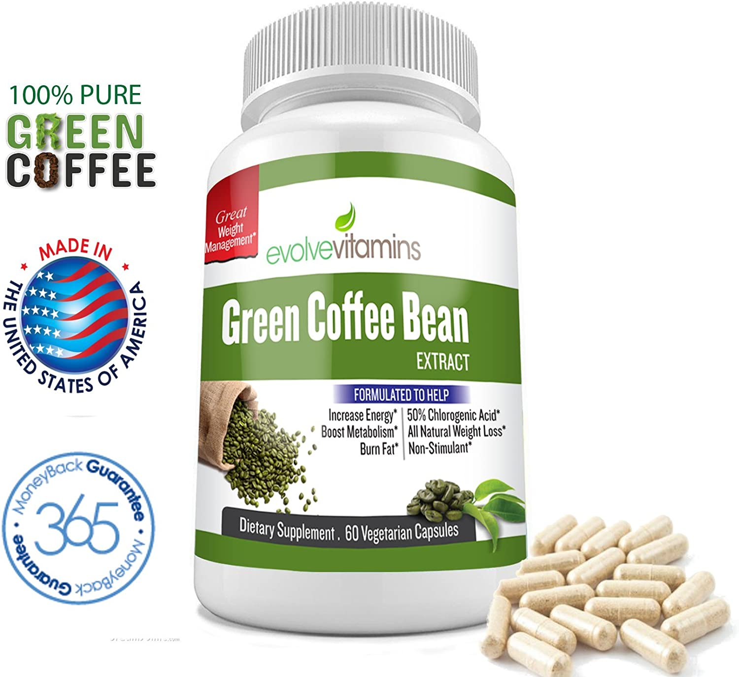 Amazon Com 100 Pure Green Coffee Bean Extract 800 Mg Natural