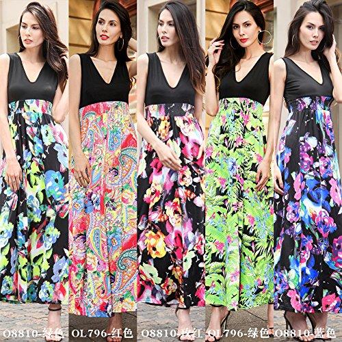 Mujer De La S8810 Largo El JIALELE Vestuario Para Vestido Mujer Vestidos verde Fiesta Fiesta De Para Mujer Vestido 600wSqxAt