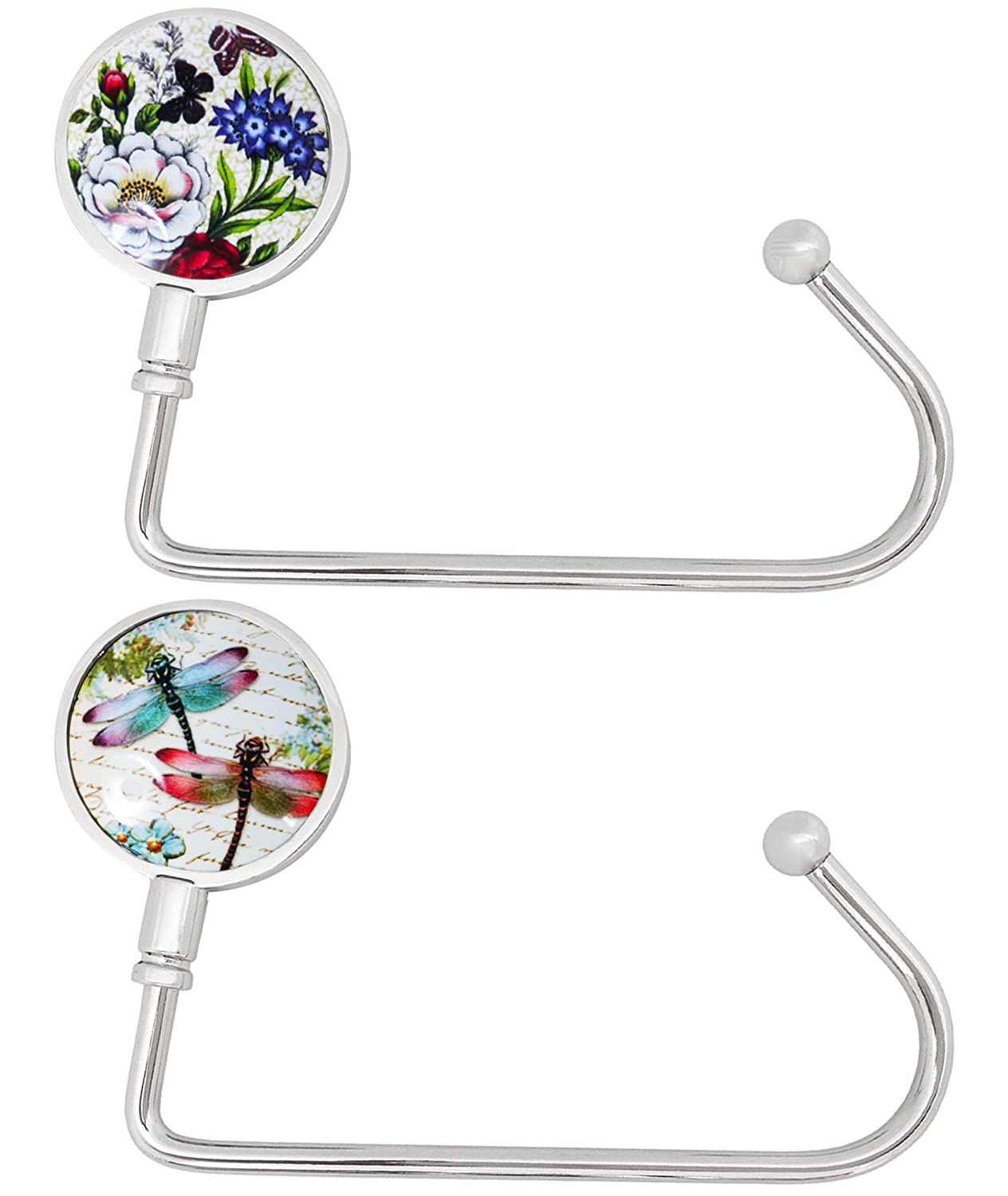 2 Pack Purse Hook - Portable Handbag Holder Table Hanger 006-HB-2