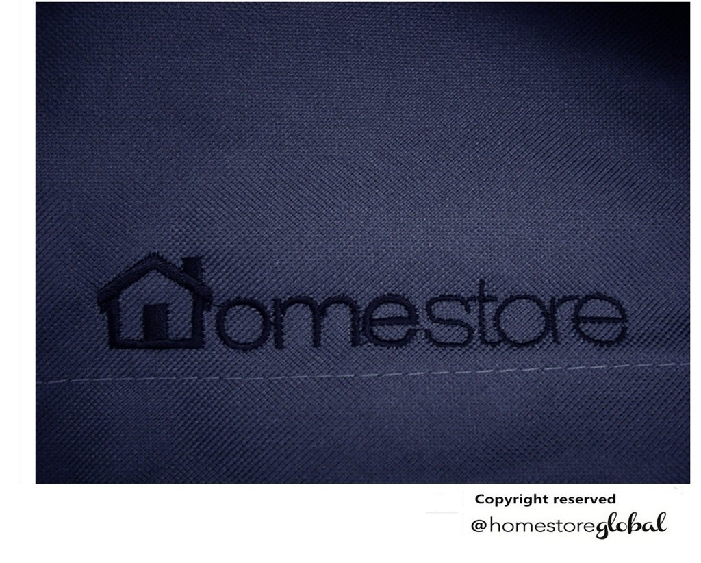 HomeStore Global Outdoor Cover for Bench Cover in Charcoal - Thick & Durable high-quality 600D Polyester Canvas with double stitched seams for extra strength, All-weather resistant and anti-humidity - Size approx : (L) 125 x (D) 68.5 x (H)94/63.5cm