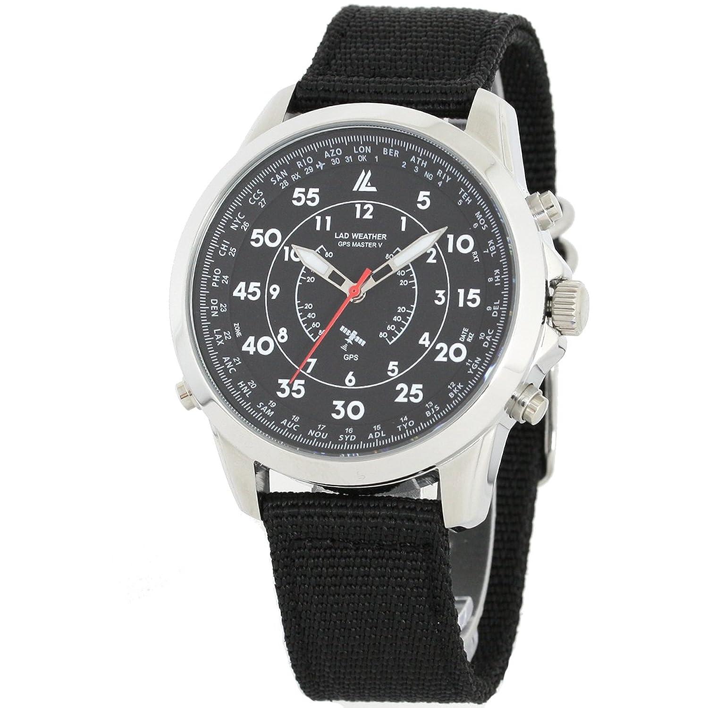 [LAD WEATHER] GPS MilitÄr Uhr 100 Meter wasserdicht 30 Zeitzone Breite Einfache Einstellung NATO BÜgel Armbanduhren