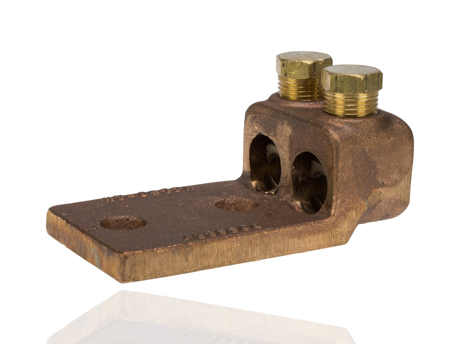 Split Bolt, Post and Tap Connector, Type TL Copper and Cast Bronze Terminal Lug, 300 MCM - 500 MCM Wire Range, 1/2'' Bolt Hole Size, 2 Holes, 800 Amp Nec, 2.500'' Width, 1.5'' Height, 4.5'' Length by NSi Industries, LLC