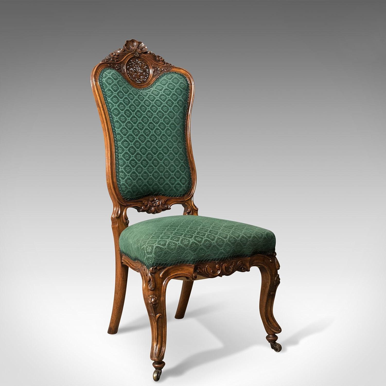 London Fine Antiques Envejecido Lateral Silla, Siglo XIX ...