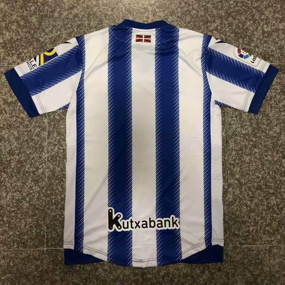 BROOK Real Sociedad Home Soccer Jersey 2019-2020 (Blue&White, M ...