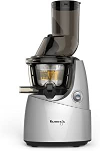 Kuvings Whole Slow Juicer with BPA-Free Components B6000SR Silver- Extra Wide Feed Chute- Reducing prep time by 40%-10 Year Limited Warranty- includes Sorbet and Smoothie Strainer