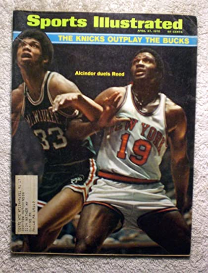 buy online 9272d 89d71 Lew Alcindor & Willis Reed - Milwaukee Bucks vs New York ...