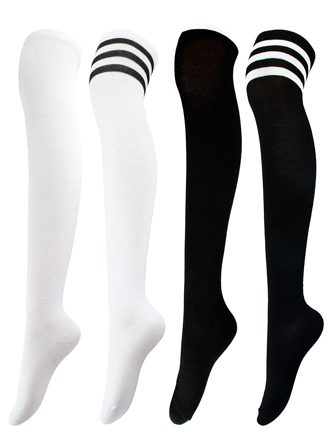 Aneco Over Knee Thigh Socks Knee-High Sock High Thigh Stockings High Boot Thigh Women Socks for Cosplay, Daily Wear