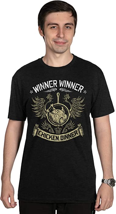 Tops & Tees Phiking Winner Chicken Dinner Pubg Player Unknown Battlegrounds T-shirt Men
