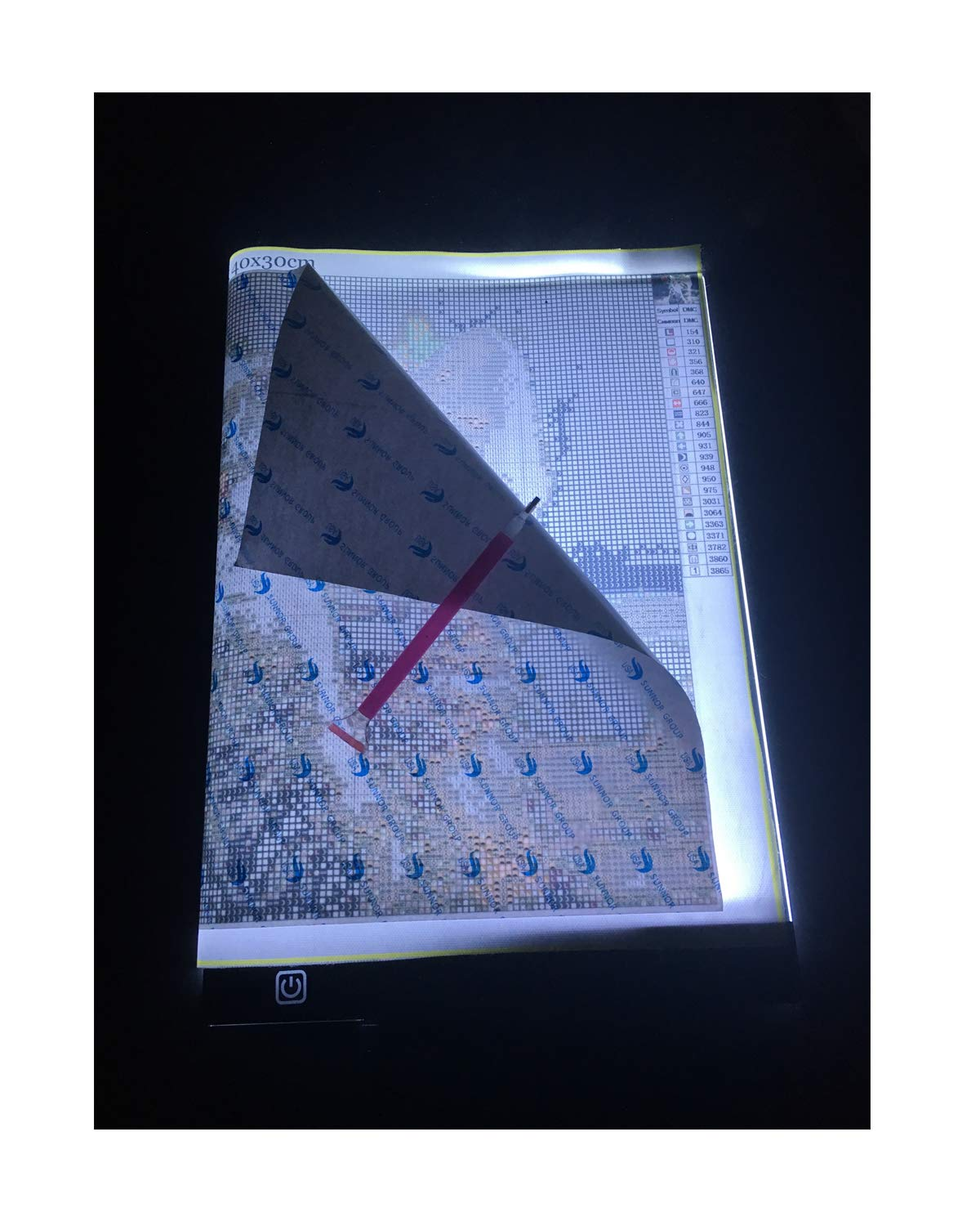 A4 LED Light Tablet Board Pad for DIY 5D Diamond Painting for Adults by Number Kit,Artcraft Tracing Light Table for Artists,Drawing, Sketching, Animation by Everydlife