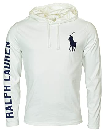 9b2fa6e82 Polo Ralph Lauren Men's Long Sleeve Graphic Jersey Hoodie - XXL - White at  Amazon Men's Clothing store:
