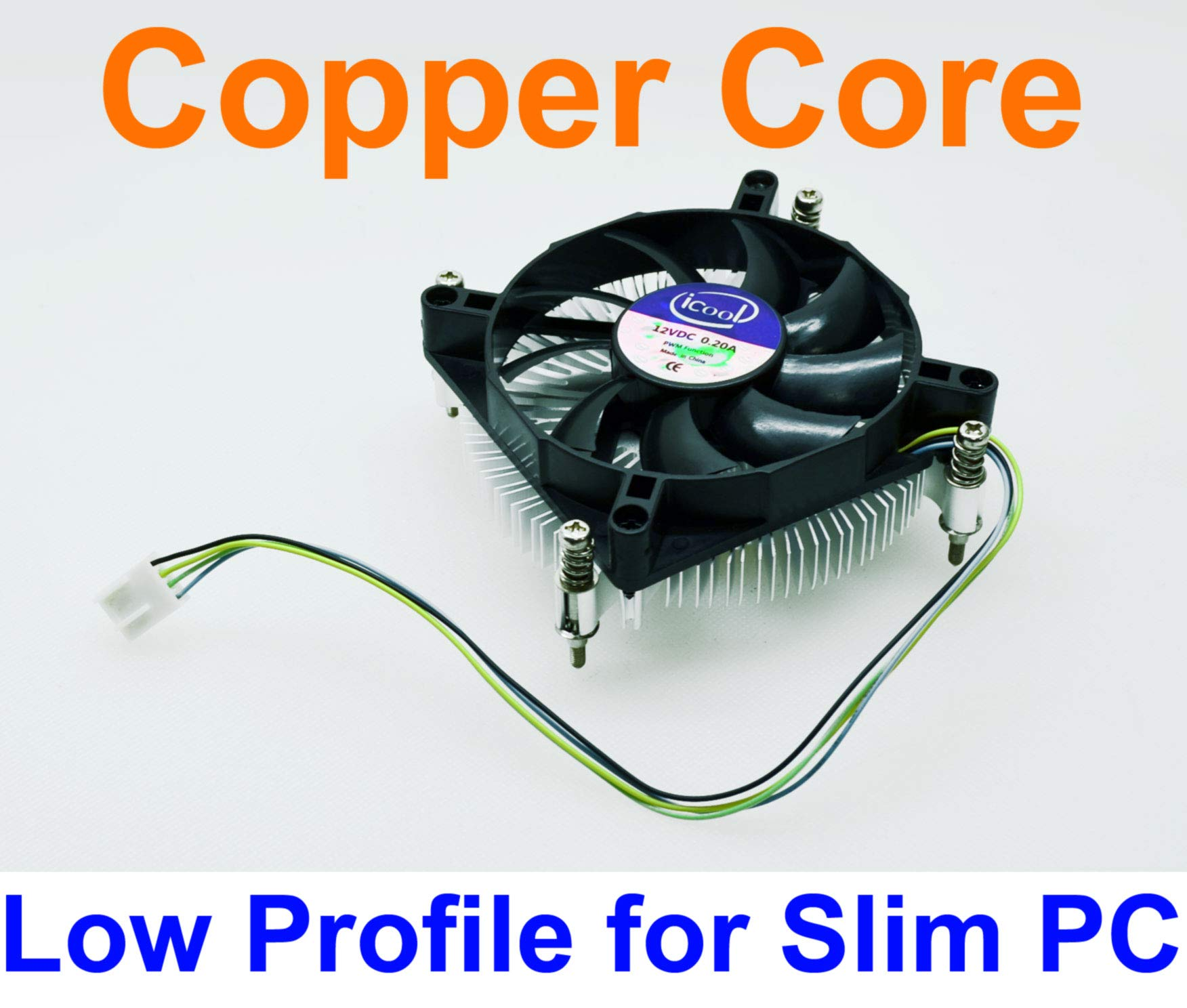 iCool Intel CPU i3 i5 LGA 1150 / 1151 / 1155 Low Profile 1U