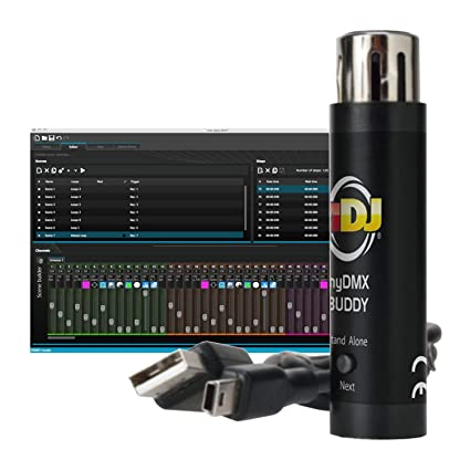 AMERICAN DJ myDMX Buddy USB Computer Software LED DMX Light Controller  Interface