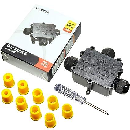 Caja Conexiones Cables Eléctricos Exterior Conector Cable Ip68 3 Vías Cable Conectores Cables SAMHUE para 4