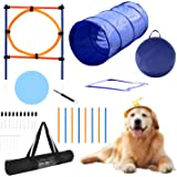YON.SOU. Dog Agility Training Equipment, Obstacle Course Training, Pet Toy for Speed & Jumps (with Dog Agility rods Jump…