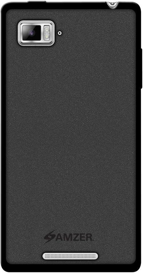 Amzer Amzer Pudding TPU Skin Case Back Cover for Lenovo VIBE Z - Skin - Retail Packaging - Black