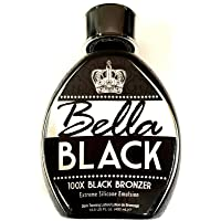 Bella Black 100X Tanning Lotion – Premium Tanning Bed Lotion with Extreme Silicone Emulsion and Banana Fruit Extract – Instant Results – Dark Tanning Lotion for Indoor Tanning Beds - 13.5oz