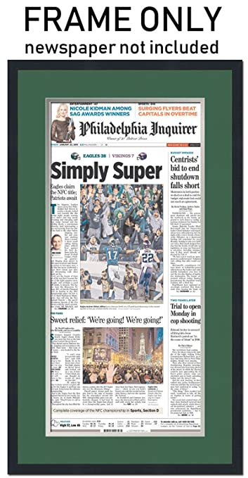Amazon the philadelphia inquirer newspaper frame with amazon the philadelphia inquirer newspaper frame with philadelphia eagles colors double mat solutioingenieria Choice Image