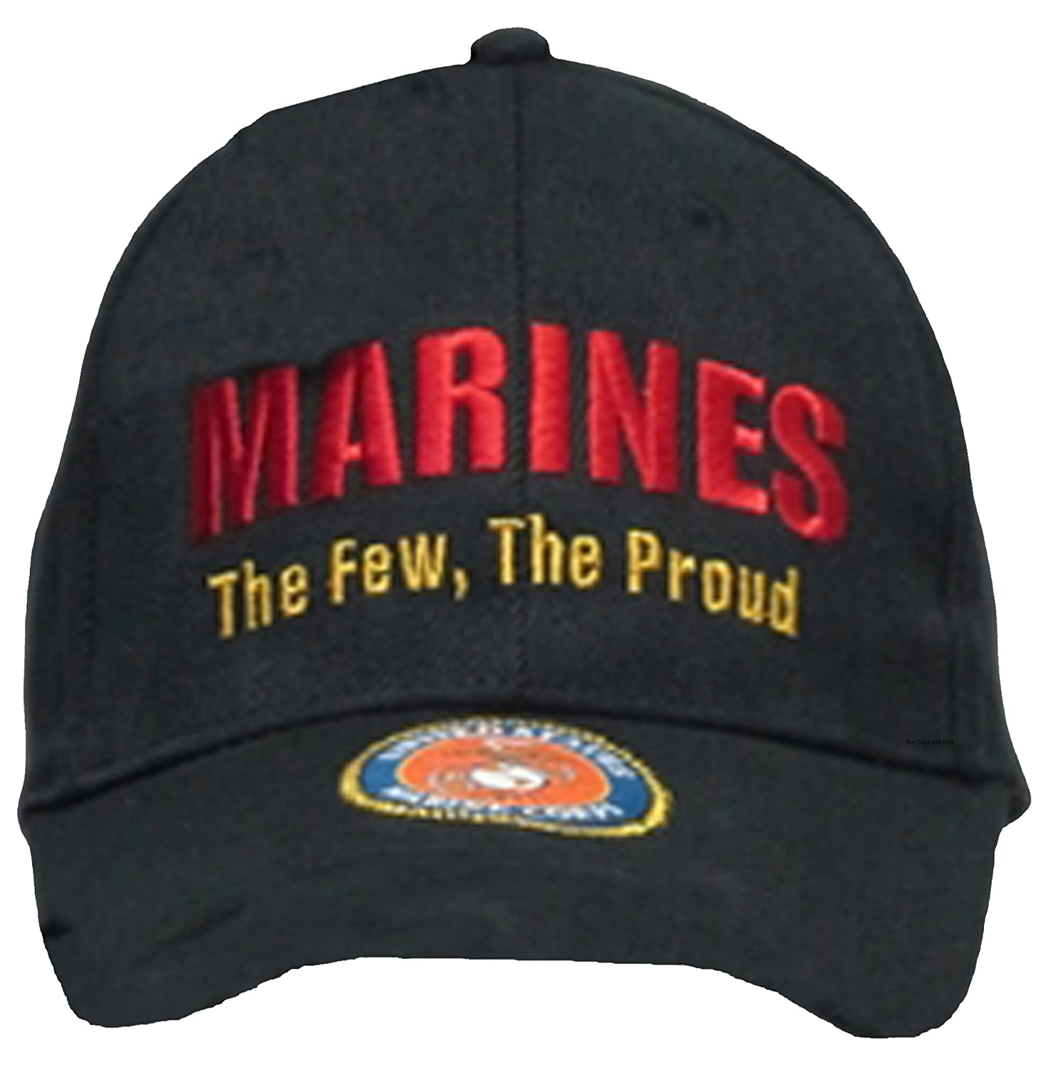Buy Caps and Hats U.S. Marine Corps USMC Insignia Hat Cap Black Marines US  Military Baseball Caps 9def328a520
