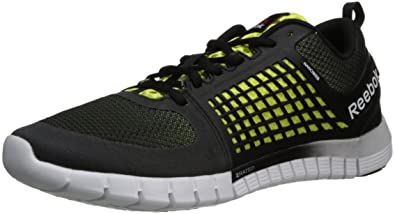 Reebok Men's Zquick 2.0 Running Shoe,BlackHigh Viscous GreenWhite,11