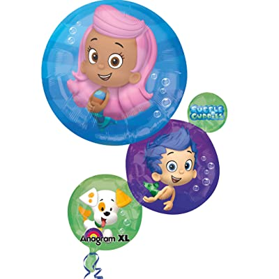 "Anagram International 2963701 28"" Anagram Bubble Guppies Foil Balloon, Multi colour: Kitchen & Dining"