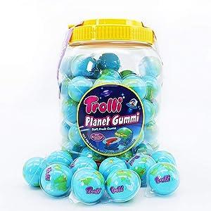 Trolli Planet Gummi 60 Count Bulk 2.5 lb - Soft Fruit Gums