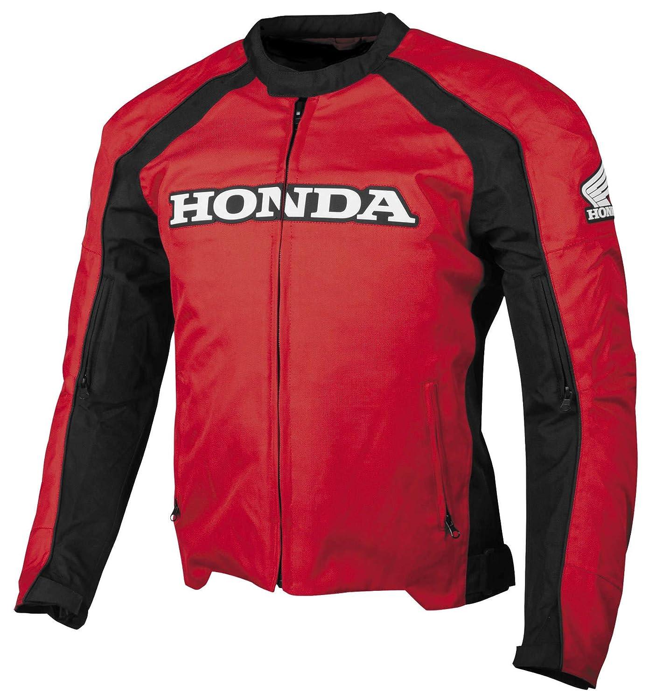 ホンダメンズSupersportテキスタイルストリートバイクジャケット、レッド B00KH50AI0 S|レッド レッド S