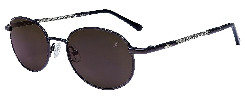Xezo alambre de titanio y cable de acero polarizadas gafas de sol ...