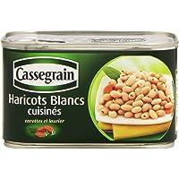 Cassegrain Haricots Blancs Cuisinés Carottes et Laurier La Boîte de 400 g